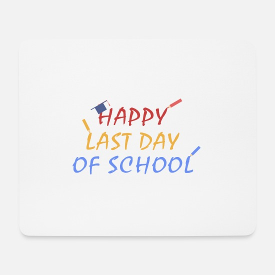 Gift Idea Mouse Pads - School student gift Teacher class Schoolgirl - Mouse Pad white