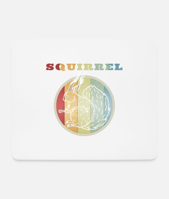 Cute Mouse Pads - Squirrel squirrel - Mouse Pad white