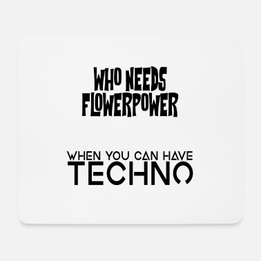 flower techno - Mouse Pad