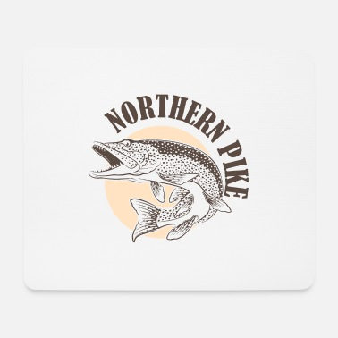 Predatory Fish Pike predatory fish Esocidae fishing angler fish - Mouse Pad