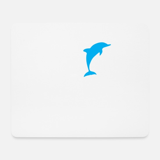 Love Mouse Pads - Love Heart Dolphins 01 - Mouse Pad white