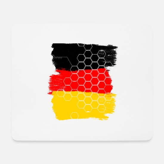 Honeycomb Mouse Pads - Germany honeycomb - Mouse Pad white