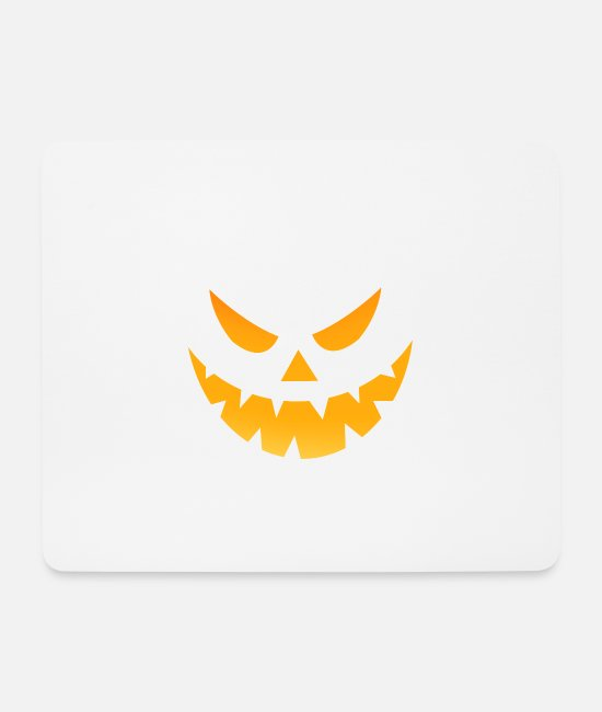 Creepy Mouse Pads - Halloween scary face angry - Mouse Pad white