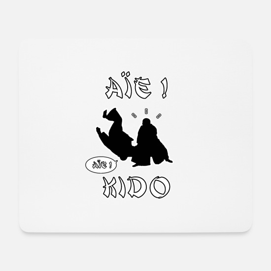 Martial Arts Mouse Pads - OUI! KIDO - WORDS OF WORDS - FRANCOIS VILLE - Mouse Pad white