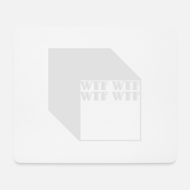 Cubes wtf logo abstract cubes - Tappetino per mouse (orizzontale)