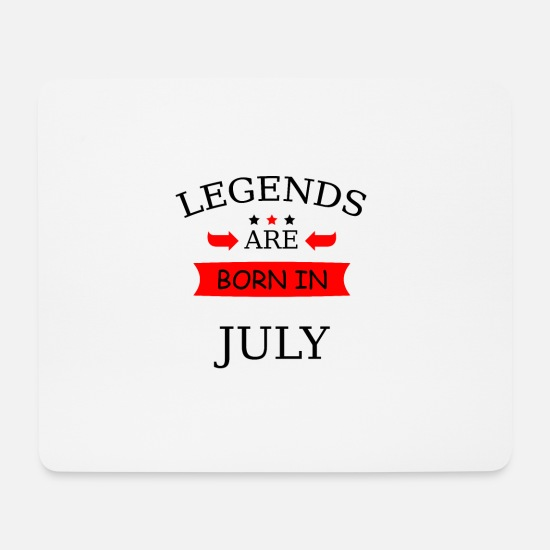 Birthday Mouse Pads - Born in July Born in July Birthday - Mouse Pad white