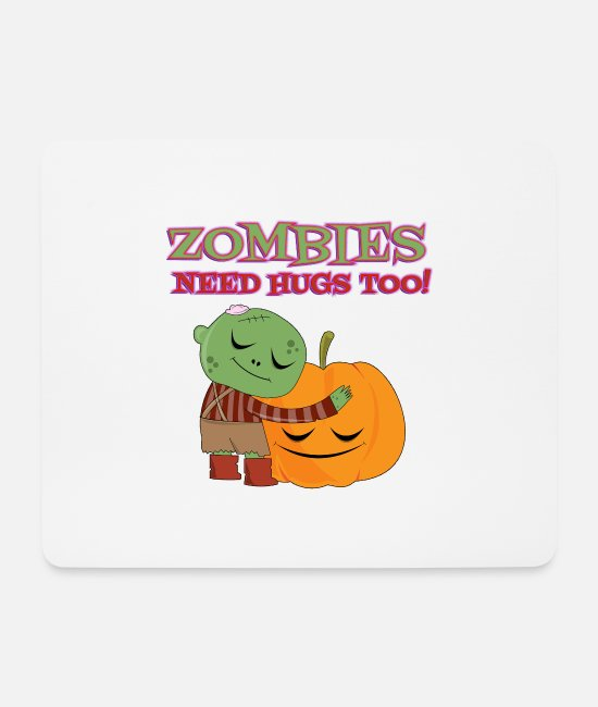 Need Mouse Pads - Zombies need hugs - Mouse Pad white