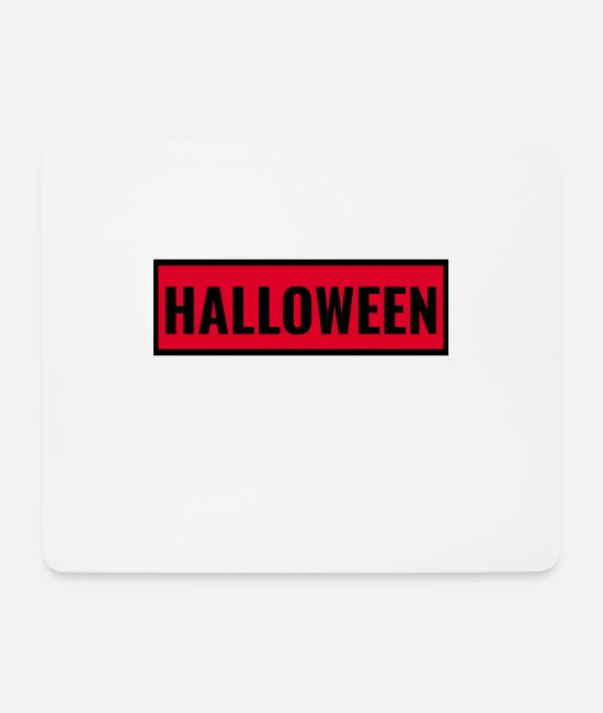 Hipster Mouse Pads - Halloween frame black - Mouse Pad white