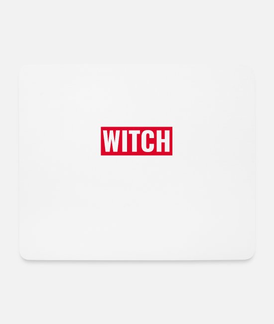 Hipster Mouse Pads - witch - Mouse Pad white