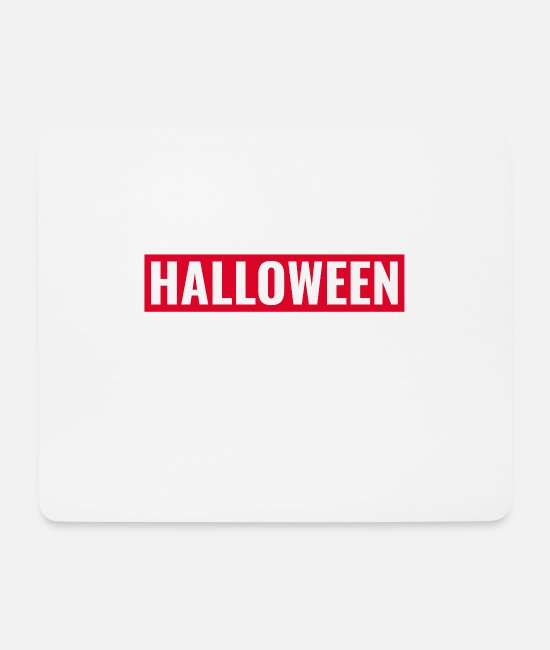 Hipster Mouse Pads - Halloween - Mouse Pad white