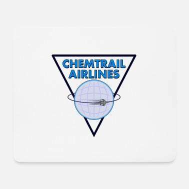 Airline Chemtrail Airlines Pilot - Mousepad