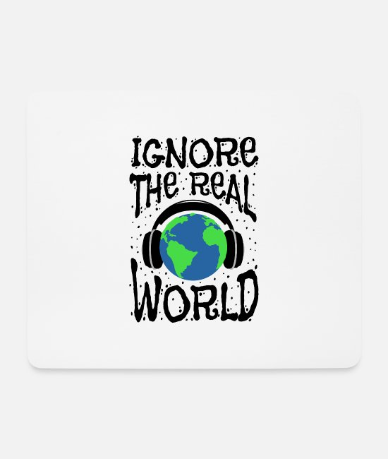 Headphones Mouse Pads - Ignore the outside world, no distraction, - Mouse Pad white