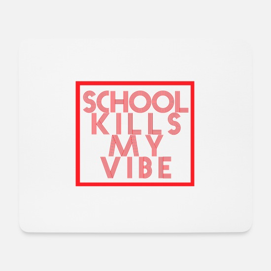 Gift Idea Mouse Pads - School class student gift teacher schoolgirl - Mouse Pad white