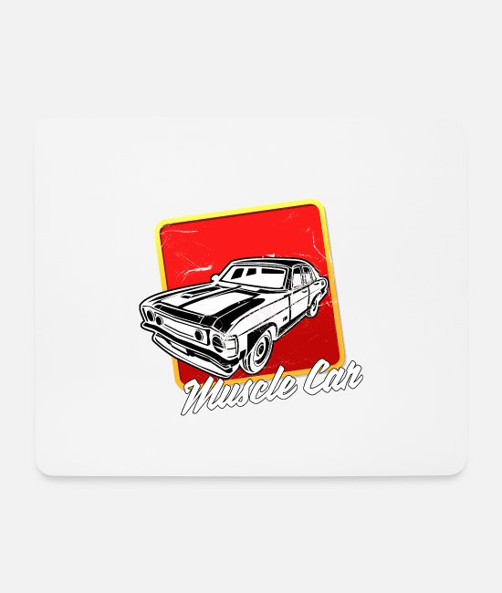 Lover Mouse Pads - Muscle Car Sport Lovers Sound Engine w Usedlook - Mouse Pad white