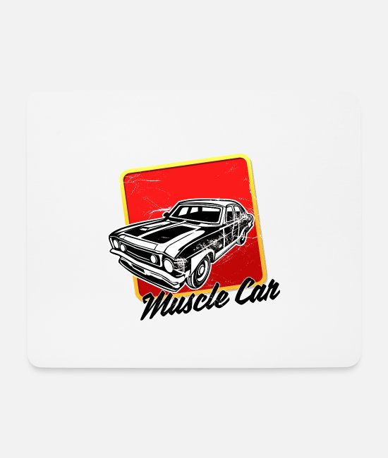 Sport Climbing Mouse Pads - Muscle car sport lovers sound engine usedlook - Mouse Pad white