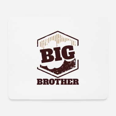 Big Big Brother Big Sister Big Brother Big Badge - Tapis de souris