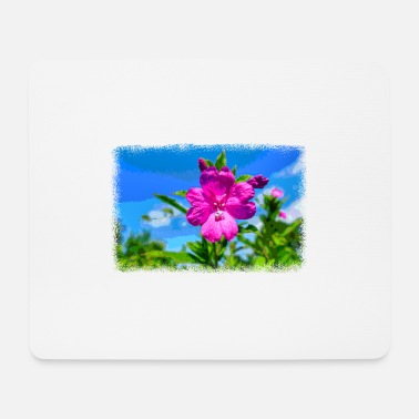 Pixel PIXEL FLOWER as pixel graphic - Mouse Pad