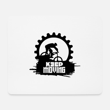 Crossbike Keep Moving Biker Crossbike - Mouse Pad