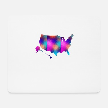 Nort America USA America map - Mouse Pad