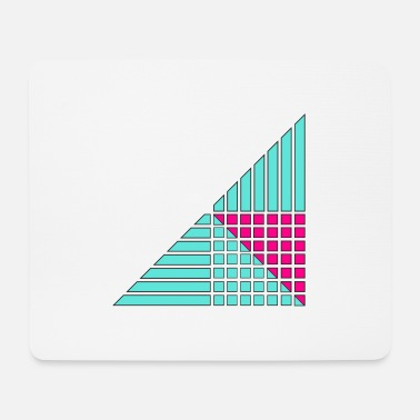 Decoration lines and squares decor decor - Mouse Pad
