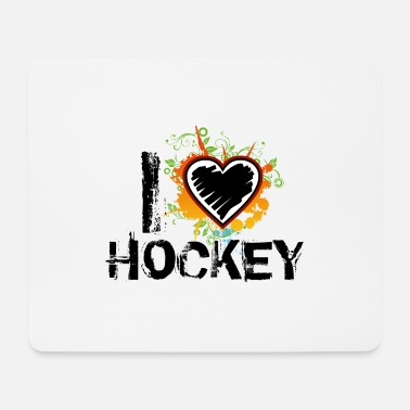Love i love hockey uk - Mouse Pad