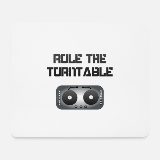 Rap Mousepads  - Rule the Turntable - blackwhite - Mousepad Weiß