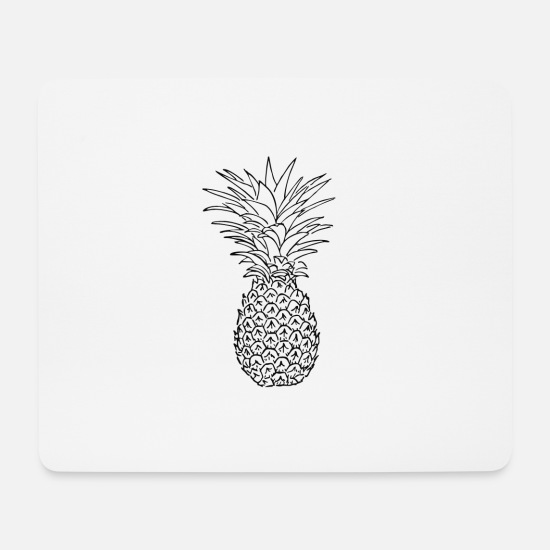Gift Idea Mouse Pads - Pineapple2 - Pineapple - Fruit - Gift Idea - Mouse Pad white