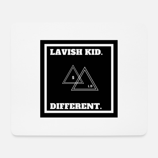 Kid Mousepads  - RICH KID - LAVI$H KID - Mousepad Weiß