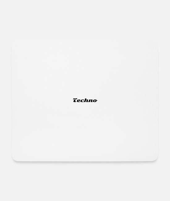 Techno Music Mouse Pads - Techno - Mouse Pad white