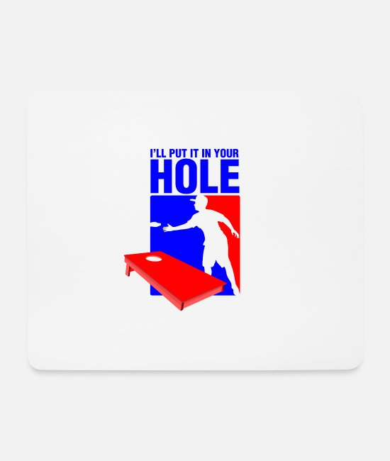 Hipster Mouse Pads - I LL put it in your hole - Mouse Pad white
