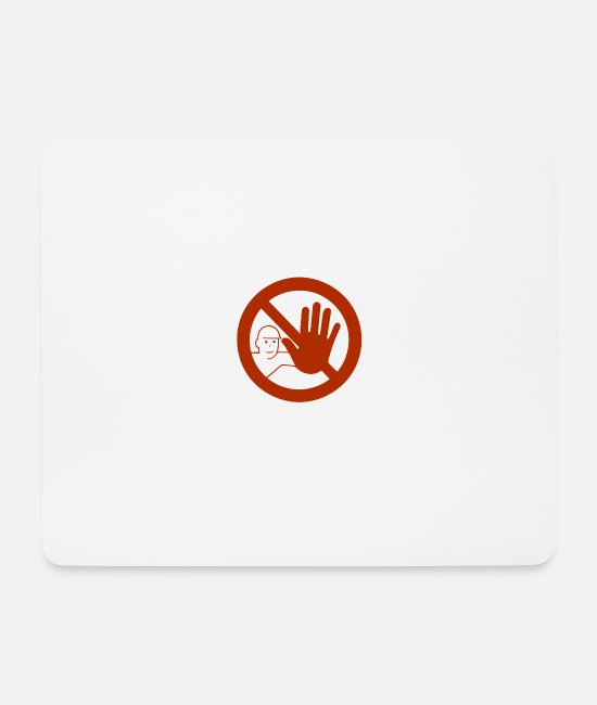 Careful Mouse Pads - Caution sign - Mouse Pad white