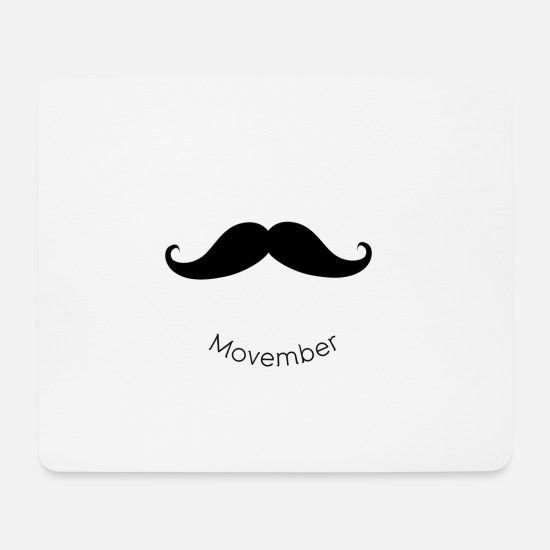 Mustache Mouse Pads - November Mustache - Mouse Pad white