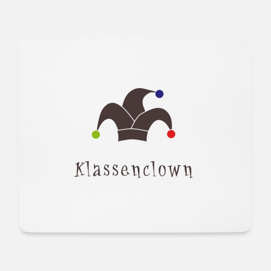 Birthday Mouse Pads - class clown - Mouse Pad white