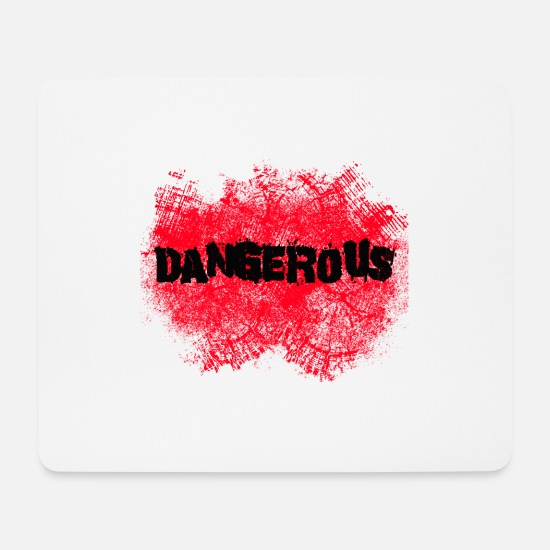 Paint Brush Mouse Pads - Dangerous - Mouse Pad white