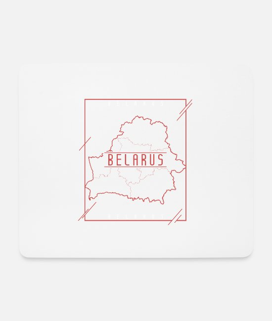Proud Mouse Pads - Belarus pride nation - Mouse Pad white