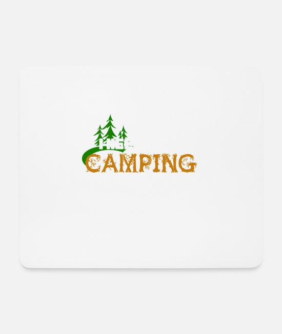 Travel Mouse Pads - Camping tent caravan campsite gift - Mouse Pad white