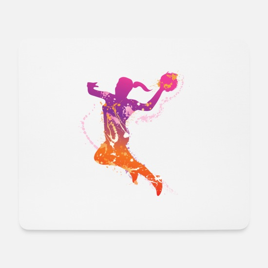 Play Mouse Pads - handball female uk - Mouse Pad white