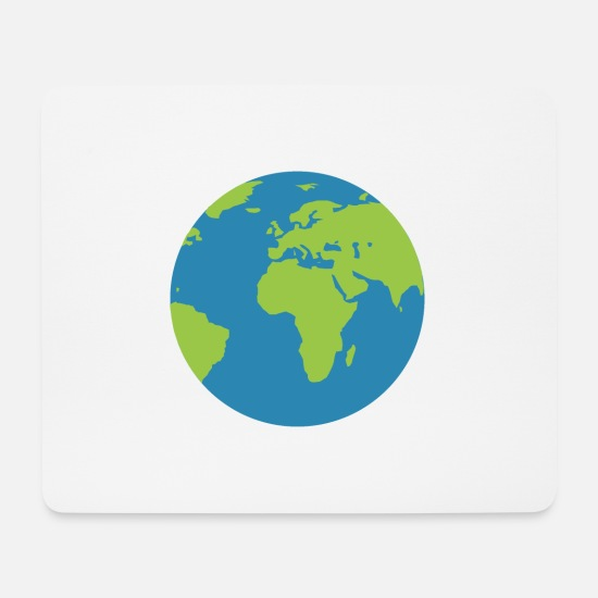 Earth Mouse Pads - world - Mouse Pad white
