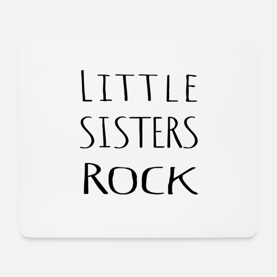 Birthday Mouse Pads - Little sister sibling shirt gift - Mouse Pad white