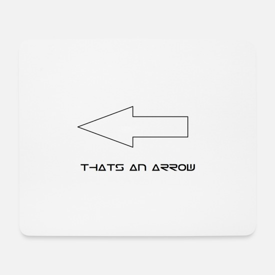 Silhouette Mouse Pads - arrow - Mouse Pad white