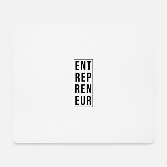 Typography Mouse Pads - Entrepreneur - Mouse Pad white