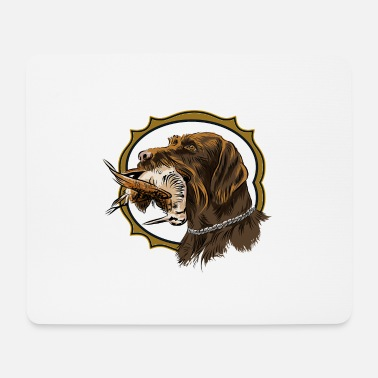 Gwp drahthaar_and_woodcock - Mouse Pad