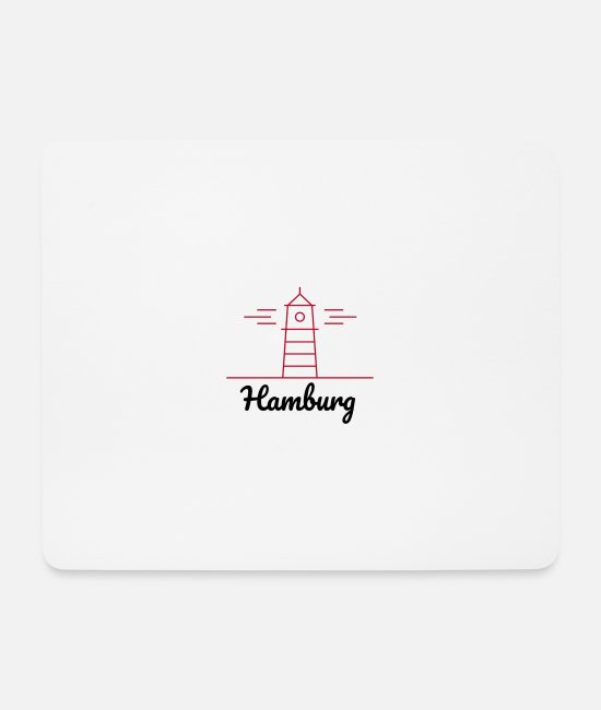 Gutter Mouse Pads - Hamburg - Mouse Pad white