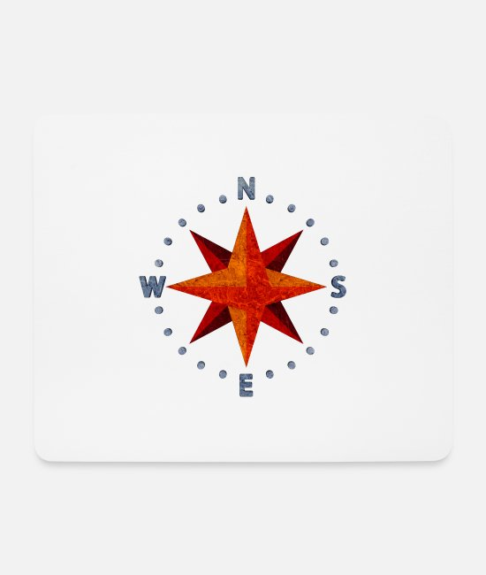 Circle Mouse Pads - compass - Mouse Pad white