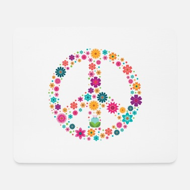 Peace Sign Peace Sign Peace Sign - Mouse Pad