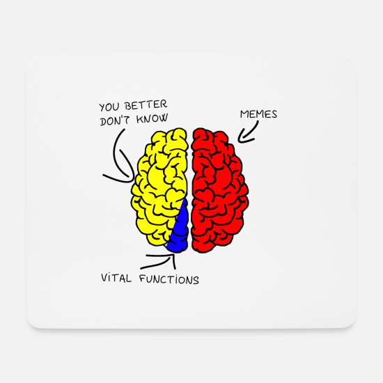 Gift Idea Mouse Pads - Brain - Brain - Memes - Mouse Pad white