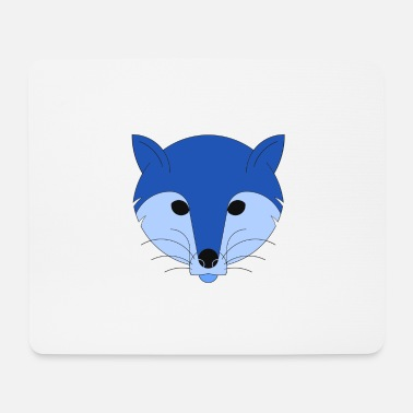 Indie Fox in blu - Tappetino per mouse (orizzontale)
