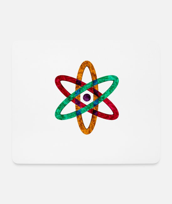 Atomic Age Mouse Pads - anatomic atomic atoms - Mouse Pad white