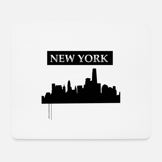 New York Mousepads  - New York - Mousepad Weiß