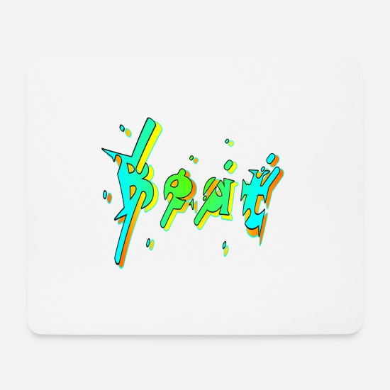 3d Mousepads  - Beat graffiti - Mousepad Weiß